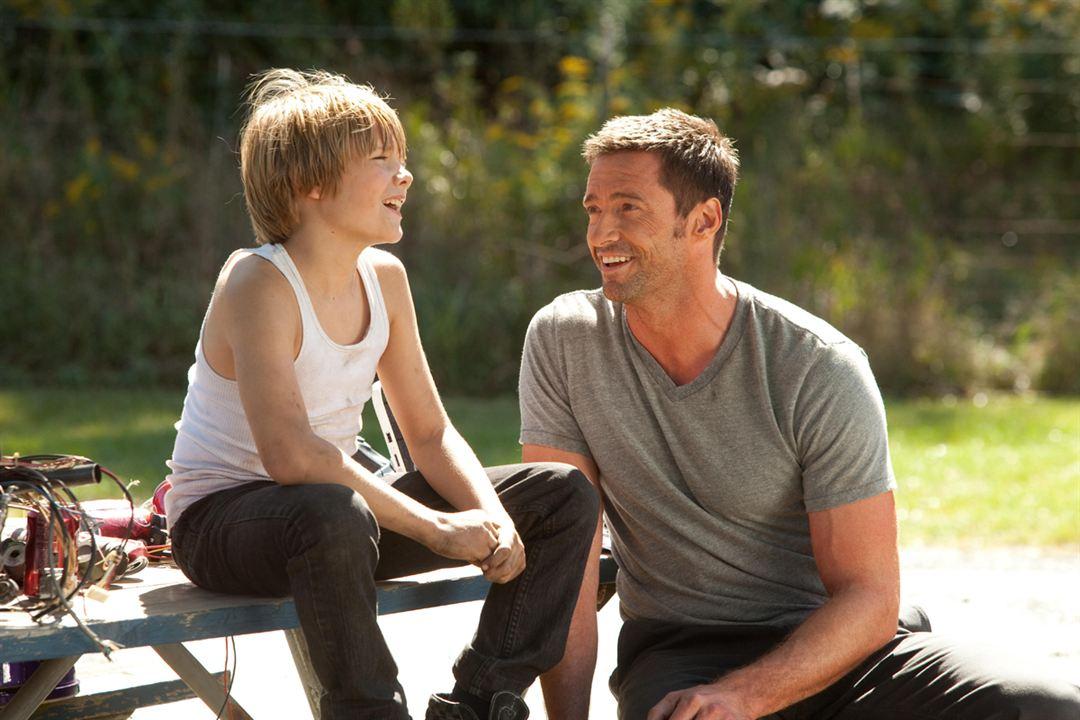 Hugh Jackman & Dakota Goyo