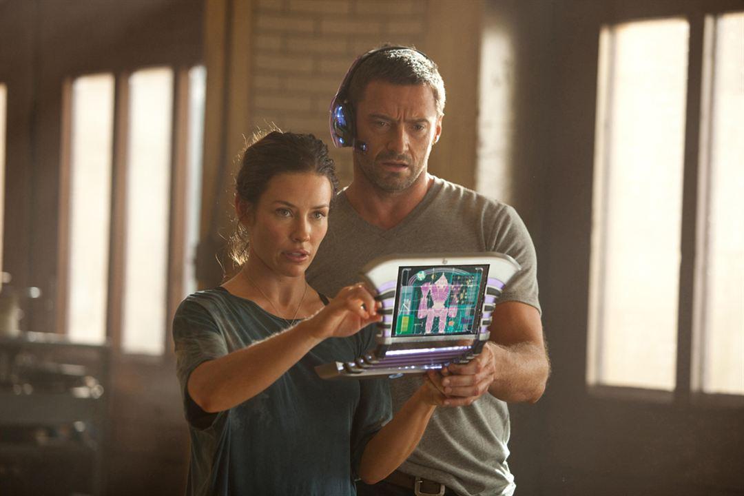 Evangeline Lilly & Hugh Jackman