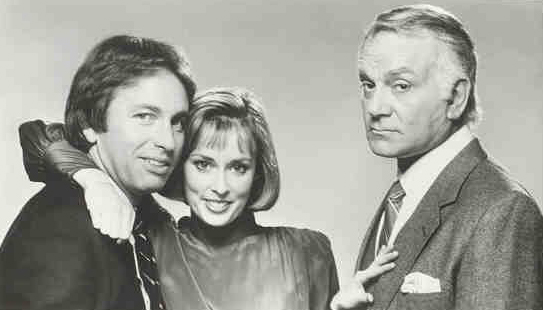 Three's a crowd : Photo John Ritter, Mary Cadorette, Robert Mandan