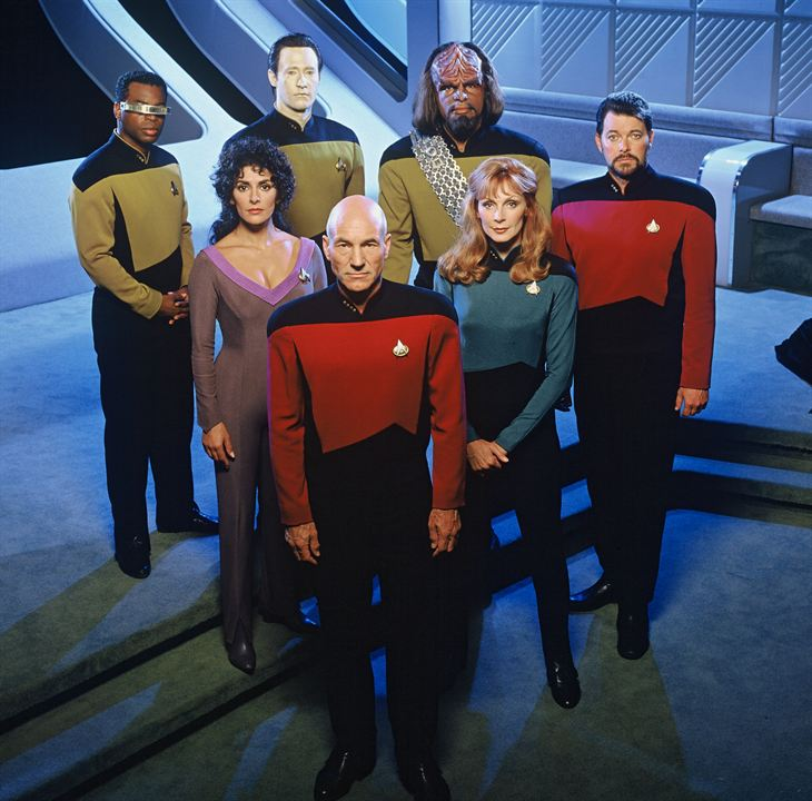 Star Trek : la nouvelle génération : Photo Brent Spiner, Gates McFadden, Jonathan Frakes, LeVar Burton, Marina Sirtis