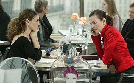 """Carole Bouquet et Cécile Cassel dans """"Sex & The City"""