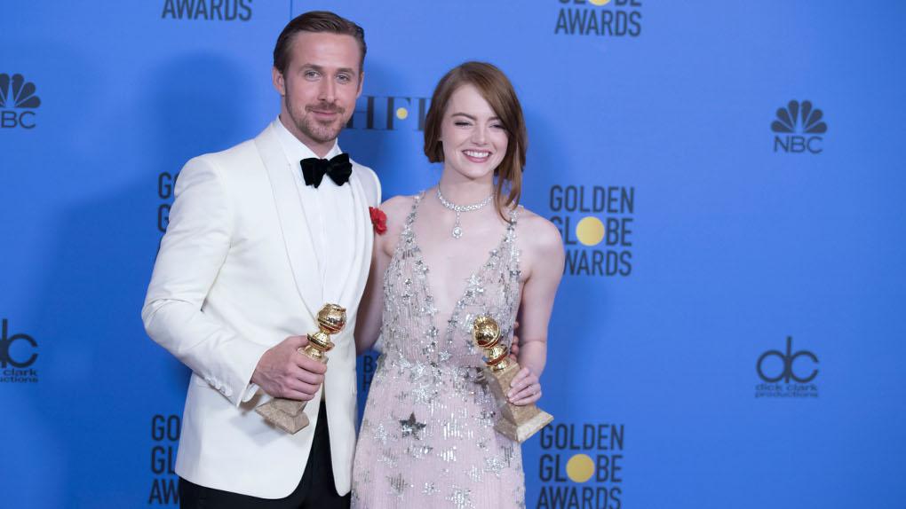 La La Land : Gosling et Stone brandissent leurs trophées