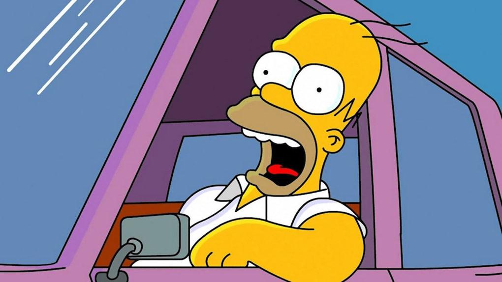 Homer Simpson, chauffard modèle