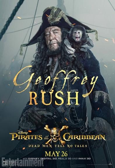 Geoffrey Rush est le Capitaine Barbossa