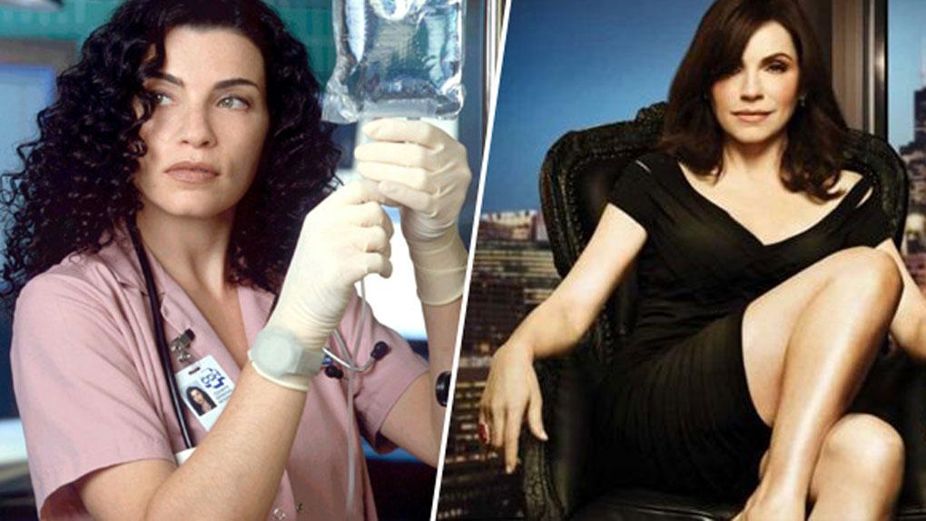 Carol Hathaway (Urgences) de 1994 à 2000 / Alicia Florrick (The Good Wife) de 2009 à 2016