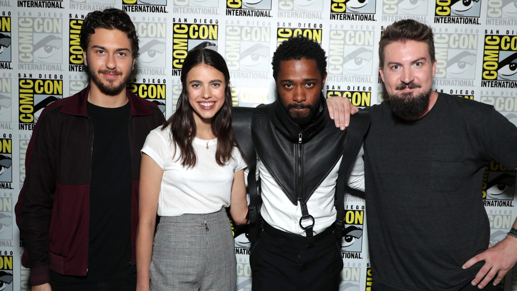 Nat Wolff, Margaret Qualley, Lakeith Stanfield et le réalisateur, Nat Wolff, Margaret Qualley, Lakeith Stanfield