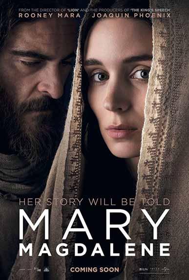 Marie Madeleine de Garth Davis avec Rooney Mara, Joaquin Phoenix, Chiwetel Ejiofor...