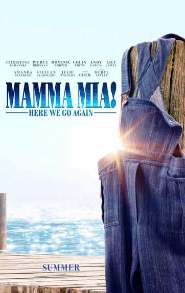 Mamma Mia: Here We Go Again! d'Ol Parker avec Meryl Streep, Amanda Seyfried, Pierce Brosnan...