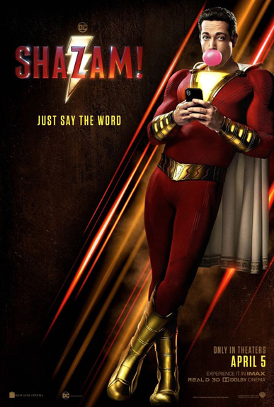 Shazam ! s'affiche