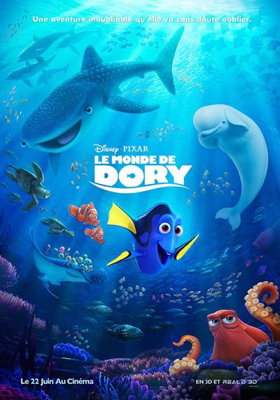 N°33 - Le Monde de Dory : 1,028 milliard de dollars de recettes