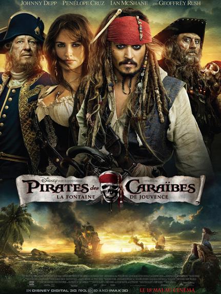 N°31 - Pirates des Caraïbes la Fontaine de Jouvence : 1,045 milliard de dollars de recettes