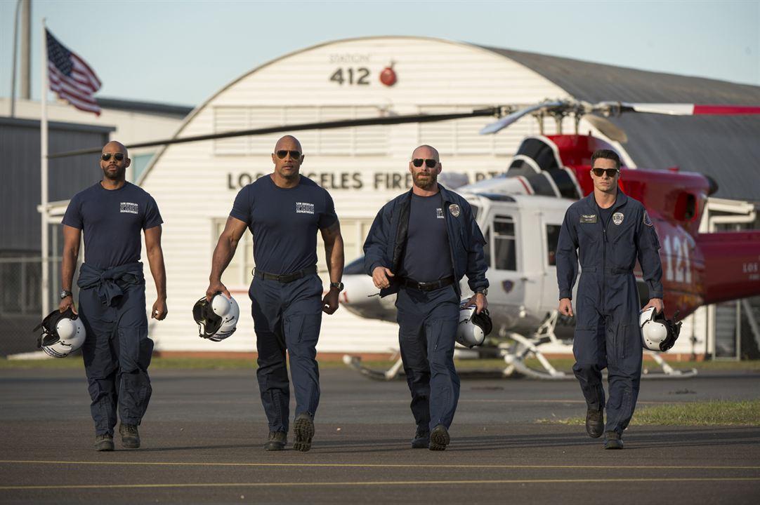 San Andreas : Photo Colton Haynes, Dwayne Johnson, Matt Gerald, Todd Williams