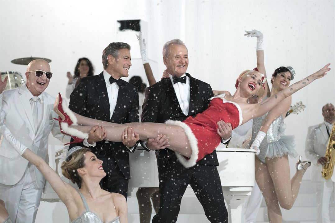 A Very Murray Christmas : Photo Bill Murray, George Clooney, Miley Cyrus, Paul Shaffer