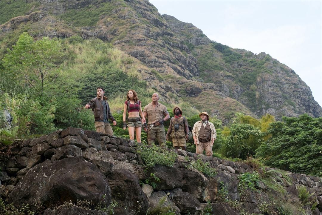 Jumanji : Bienvenue dans la jungle : Photo Dwayne Johnson, Jack Black, Karen Gillan, Kevin Hart, Nick Jonas